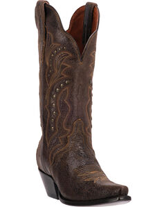 Dan Post Carisma Studded Shaft Cowgirl Boots - Snip Toe, , hi-res