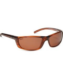 Hobie Men's Shiny Brown Wood Grain Polarized Cabo Sunglasses , , hi-res