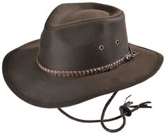 Outback Trading Co. Brown Grizzly UPF50 Sun Protection Oilskin Hat, , hi-res
