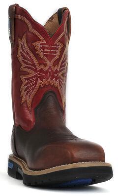 """Cinch® WRX Men's Waterproof Steel Toe 11"""" Work Boots, , hi-res"""