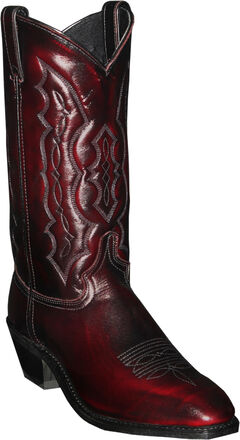Abilene Black Cherry Dress Cowboy Boots - Square Toe , , hi-res