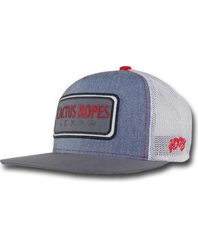 Hooey Men's Grey Cactus Ropes Patch Logo Baseball Cap , Grey, hi-res