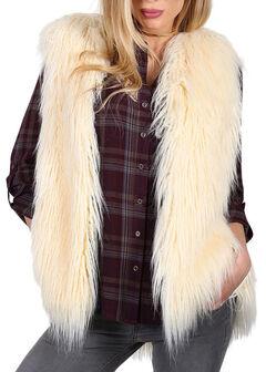 Shyanne Women's Faux Fur Vest, , hi-res
