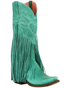 Junk Gypsy by Lane Women's Turquoise Dreamer Boots - Snip Toe , , hi-res
