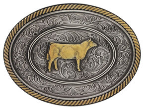 Montana Silversmiths Prize Heifer Classic Impressions Attitude Belt Buckle, Multi, hi-res