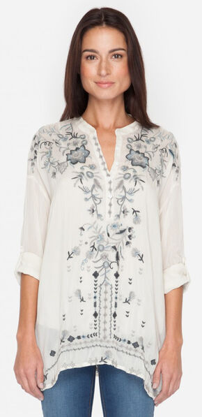 Johnny Was Women's Shell Samantha Tunic , Ivory, hi-res