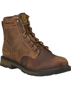 "Ariat Men's Groundbreaker 6"" Lace Up Work Boots - Round Toe, , hi-res"