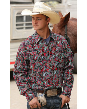 Cinch Men's Paisley Modern Fit Long Sleeve Western Shirt , Multi, hi-res