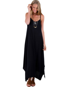 Others Follow Women's Black Kiara Long Tank Dress , Black, hi-res