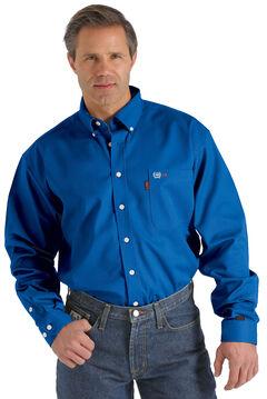 Cinch WRX Flame-Resistant Solid Royal Blue Shirt, , hi-res