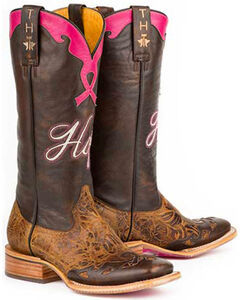 Tin Haul Staying Strong with Hope Cowgirl Boots - Square Toe, , hi-res