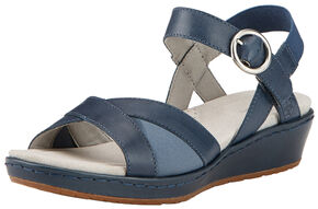 Ariat Women's Blue Out & About Strap Sandals , Blue, hi-res