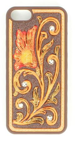 Floral Tooled with Rhinestones iPhone 5 Case, , hi-res