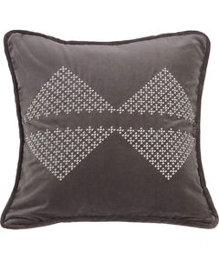 HiEnd Accents Embroidered Diamond Accent Pillow, , hi-res