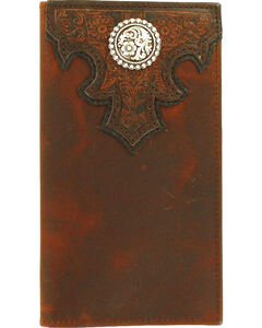 Ariat Men's Checkbook Rodeo Concho Wallet , , hi-res