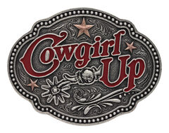 Montana Silversmiths Women's Two Tone Cowgirl Up Stars 'n Spurs Buckle , , hi-res
