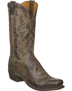 Lucchese Men's Whittaker Antique Cocoa Mad Dog Goat Western Boots - Square Toe, , hi-res