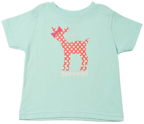 Browning Toddler Girls' Doe a Deer Shirt, Light Blue, hi-res