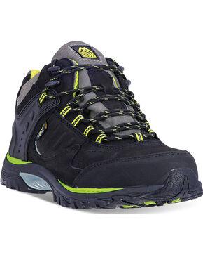 McRae Men's Black Industrial Mid-Height Work Shoes - Steel Toe, Black, hi-res