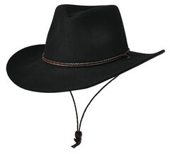 Master Hatters Men's Black Shady Wool Hat, , hi-res