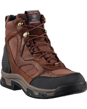 "Ariat Creston H2O Insulated 6"" Lace-Up Boots - Round Toe, Coffee, hi-res"