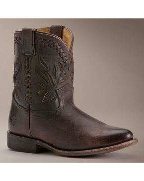 Frye Wyatt Overlay Short Boots, Dark Brown, hi-res