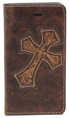 Nocona Leather Diagonal Cross iPhone 5 and 5S Case Wallet, , hi-res