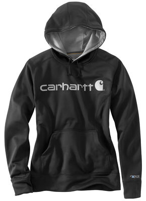 Carhartt Extremes® Women's Force Signature Graphic Hooded Sweatshirt, Black, hi-res