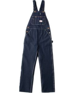 "U.S.A. Made Round House Rigid Denim Overalls - Reg, Big. Up to 50"" Waist, , hi-res"