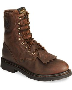 "Ariat Waterproof Cascade H20 8"" Lace-Up Work Boots - Round Soft Toe, , hi-res"