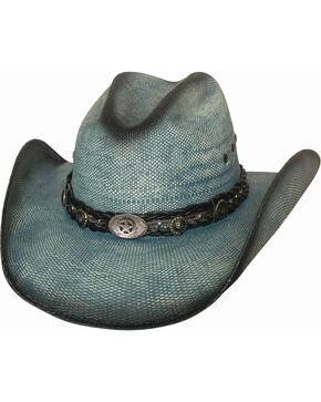 Bullhide Women's Into You Straw Cowboy Hat , Blue, hi-res