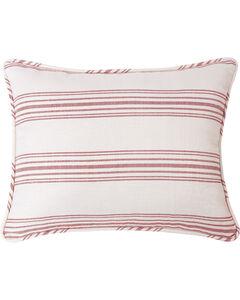 HiEnd Accents Prescott Red Stripe Pillow Sham Set - King, Red, hi-res