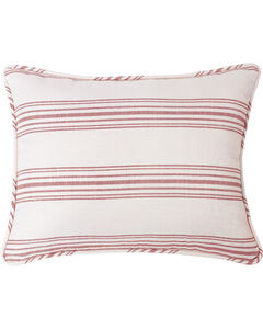HiEnd Accents Prescott Red Stripe Pillow Sham Set - Queen , , hi-res