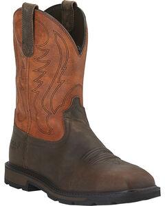 Ariat Groundbreaker Work Boots - Steel Toe, , hi-res