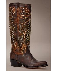 Frye Women's Deborah Deco Tall Cowgirl Boots - Round Toe, , hi-res