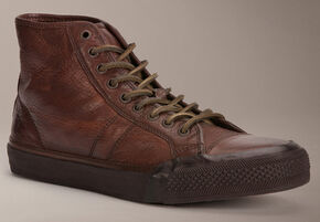 Frye Greene Tall Lace Up High Tops, Dark Brown, hi-res