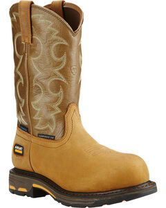 Ariat Women's Tan Workhog H2O Cowgirl Work Boots - Composite Toe  , , hi-res