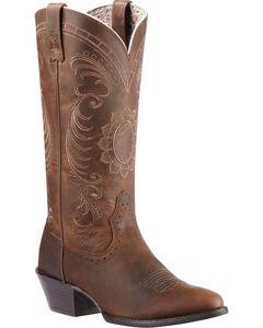 Ariat Magnolia Sunflower Stitch Cowgirl Boots - Medium Toe, , hi-res