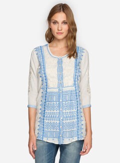 3J Workshop Women's Gaya Peplum Tunic, , hi-res