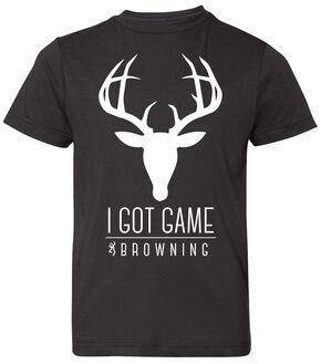 Browning Boys' Got Game Short Sleeve Tee, Black, hi-res