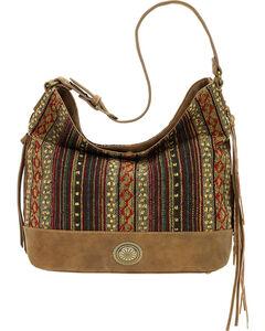 American West Bandana Women's Brown Serape Shoulder Bag , , hi-res