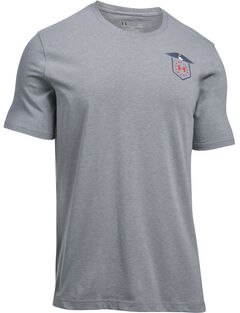 Under Armour Freedom Men's Grey Home of the Brave Tactical Graphic T-Shirt, , hi-res