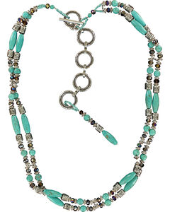 Ariat Beaded Turquoise Chain Belt, , hi-res