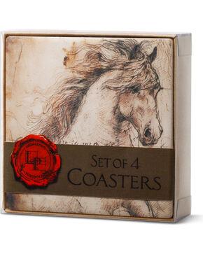 Big Sky Carvers Leonardo's Horse Sentiments Coaster Set, Cream, hi-res