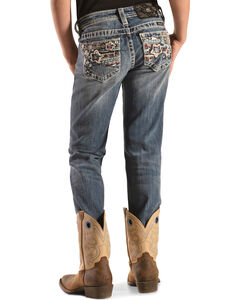 Miss Me Girls' Stars & Stripes Skinny Jeans, , hi-res