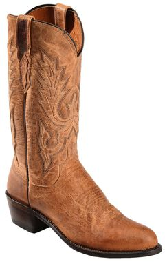 Lucchese Handcrafted 1883 Tan Mad Dog Goatskin Cowboy Boots - Round Toe, , hi-res