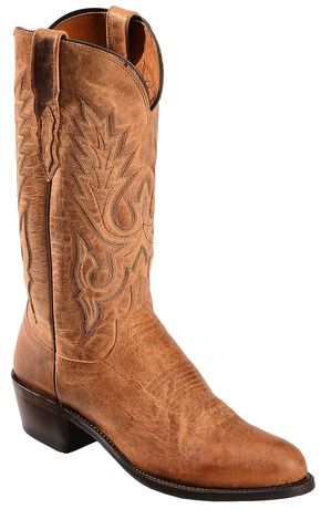 Lucchese Handcrafted 1883 Tan Mad Dog Goatskin Cowboy Boots - Round Toe, Tan, hi-res