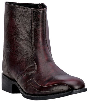 "Laredo Men's 7"" Hoxie Side Zipper Boots - Square Toe, Black Cherry, hi-res"