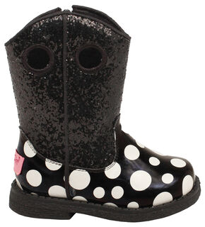 Blazin Roxx Toddler Girls' Lil' Pearl Boots, Black, hi-res