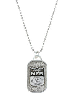 Montana Silversmiths 2016 WNFR Classic Token Dog Tag Necklace with NFR Shield, , hi-res